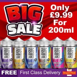 Big Mama Juice E Liquid 0mg Cheap Vape Juice Nicotine E-Liquid E-Cigs
