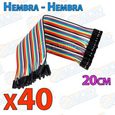40 Cables 20cm Hembra Hembra jumper dupont 2,54 arduino protoboar cable
