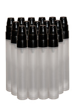 10 x Plastic clear frosted airless pump bottle 15ml with cap - high quality!!!
