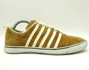 K Swiss Billy Reid Brown Leather Casual Lace Up Fashion Sneakers Shoes Men's 8