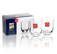 RCR Toscana Crystal Stemless Liqueur Shot Glasses 80ml Cups Italian Glasses Set