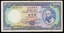 Macau 100 Patacas P-61 1984   VF