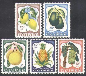 Guinea 1959 Bananas/Lemon/Pineapple/Fruit/Plants/Nature/Food/Farming 5v (n38017)