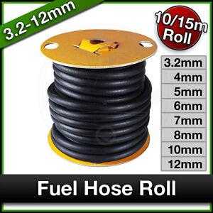 FUEL PIPE Braided Hose RUBBER Engine Unleaded Petrol Diesel Oil Line 10m 15m
