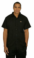 Dickies Chef Collection Black Short Sleeve Cook Shirt Sz M Nwt