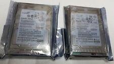 SEAGATE Savvio 9FJ066-165 ST9146803SS 146GB 6GB SAS 10K HDD LOT OF 2