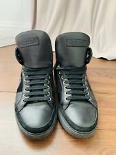 Mens Roberto Cavalli Black Leather Sneakers Shoes Size IT 40