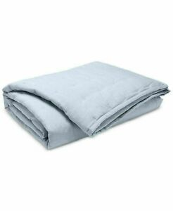 Ralph Lauren Graydon Cotton Quilted KING Quilt $385 Chambray