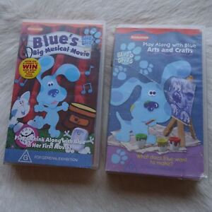 Nickelodeon BLUE'S CLUES 2 Pack VHS Video Tape Children FAMILY Story Time ARTS