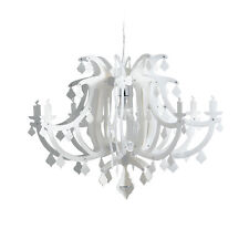 SLAMP GINETTA WHITE lampada lampadario LUXURY DESIGN