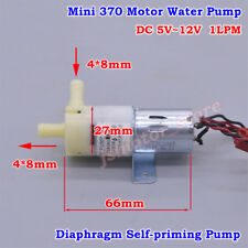 DC 5V~12V 6V 9V Mini 370 Motor Small Diaphragm Self Priming Suction Water Pump