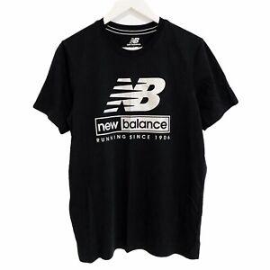 New Balance Running Sportswear Metallic Print T-Shirt Mens Large