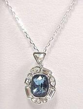 Retired Formidable Crystal Pendant Clear Blue Swarovski Jewelry 5217804