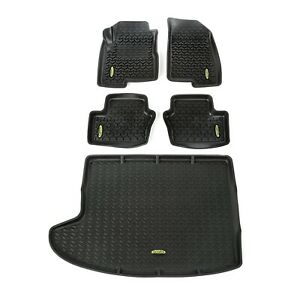 Outland 391298827 Black Floor Liners Kit for Jeep Compass/Patriot MK