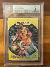 2019-20 Hoops High Voltage #2 Lebron James Lakers BGS 9 MINT w/ 2 9.5's LOW POP