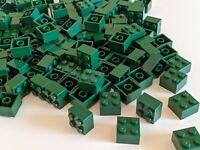Rounded Top BOW Brick Bricks ~  Lego  ~ NEW ~ Dark Green 8 1x3 Earth Green
