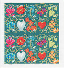 GARDEN OF LOVE STAMP SHEET -- USA #4531-4540 44 CENT 2011 FLOWERS LOVE