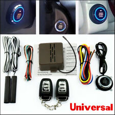 Car Alarm Security System Keyless Entry Engine Ignition Start Push Button Remote