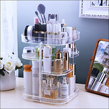 3 Tier Acrylic Storage Makeup Cosmetic Organizer Case Stand Box Jewelry Brush Y5