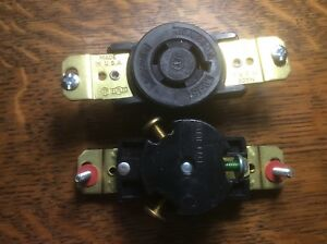 BRYANT L6-15 LOCKING RECEPTACLE *NEW NO BOX* Turn and pull Wall mount