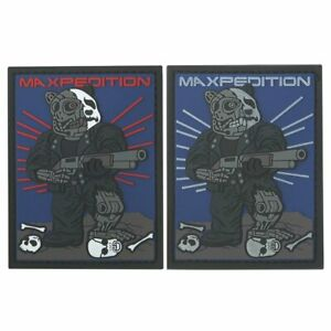 Maxpedition Limited Edition Cyborg Panda Morale Patch Set of 2 GID