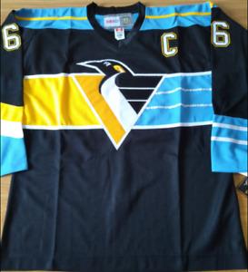Penguins Black Mario Lemieux Jersey M, L, XL, 2XL, 3XL