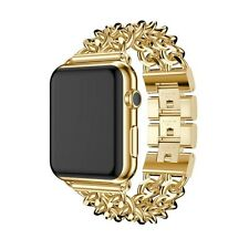 24K Gold 42MM Apple Watch with Gold Links Band Custom Rare
