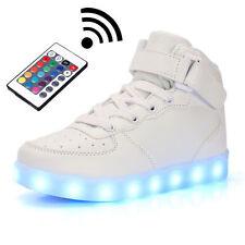 Unisex Control Remote LED Light Up Laces Casual Shoes Men Women Luminous Sneaker