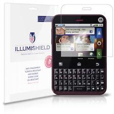 iLlumiShield Phone Screen Protector w Anti-Bubble/Print 3x for Motorola Charm