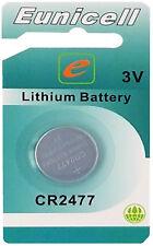 1 x CR2477 3V Lithium Knopfzelle 1050 mAh(1 Blistercards EINZELBLISTER )Eunicell