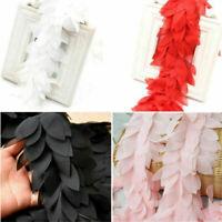 1 Yard Chiffon Leaves Lace Trim Ribbon For Garment Sewing Accessories DIY Craft