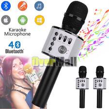 2 x Q37 Wireless Microphone KTV Karaoke Stereo USB Player Bluetooth HIFI Black
