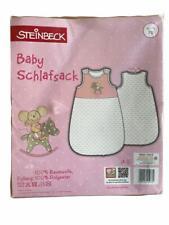 Steinbeck Baby Schlafsack Lillebi + Rennwagen / Rosa + Blau / Größe 70 + 90