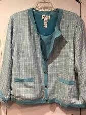 Women's Winter Fall Business Church Tweed Boucle 2PC Jacket and tank top plus 3X