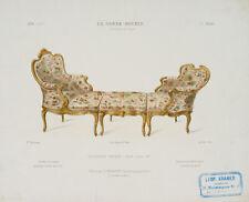 QUÉTON, Dreiteilige Chaiselongue, Le Garde-Meuble, Franz. Möbel-Design, Farblith