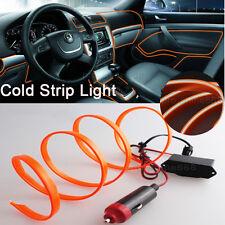 3M Orange Interior Trim Door Panel Decor Atmosphere Cold Strip EL Light For MINI