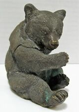Antique Bronze Bear Inkwell