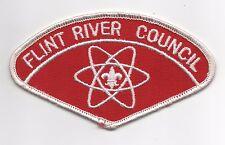 Flint River Council CSP T-2a, Dk-Red Bkgd, Non-Standard Shape, Mint!