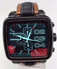 Diesel DZ4303 Mens Square Franchise Chronograph Tan Leather Band Watch