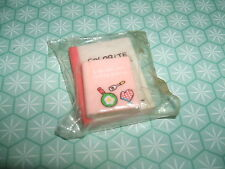 Rare Vintage 1980s Colorite Pink Cookery Notebook erasers rubbers gommes gommine