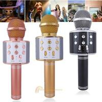WS-858 Wireless Karaoke Handheld USB Microphone KTV Player Bluetooth Mic Speaker