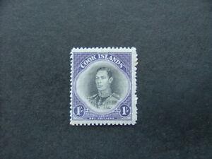 Cook Islands 1944 1/- black & violet SG143 MM