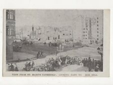 View From St Marys Cathedral To Nob Hill San Francisco USA 1906 Postcard 384a