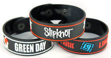 GREEN DAY LINKIN PARK SLIPKNOT 3pcs(3x) Bracelet Wristband 3w87