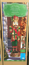 Large 6ft Resin Indoor Outdoor Christmas Nutcracker Soldier LED Lights & Sounds