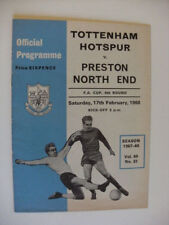 FA Cup Preston North End Teams O-R Football Programmes