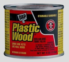 DAP Plastic Wood Filler Paintable Sandable Wall Nail Holes NATURAL 4 oz 21502