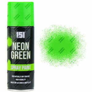 12 x Fluorescent Neon Green Aerosol Spray Paint DIY 200ml Auto Car 151 Quality