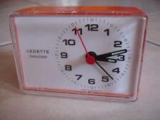 Réveil  VEDETTE transistor orange  - Made in France