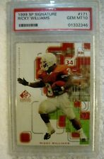 Ricky Williams RC 1999 SP Signature Rookie Card#171 GEM Graded PSA10! Saints RC